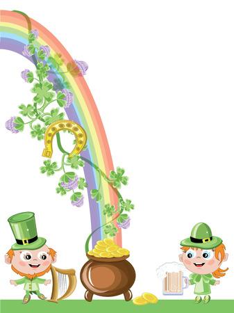 leprechaun girl: St.Patricks day Illustration