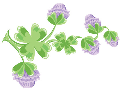 Background with clovers Stock Vector - 8958963