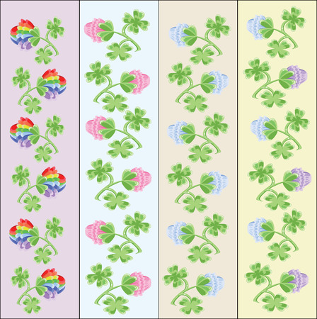 Backgrounds with clovers Vector