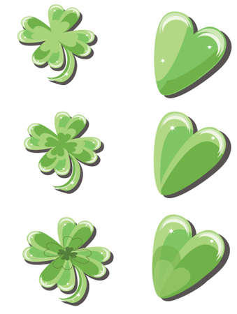 Clover and hearts Stock Photo - 8958935