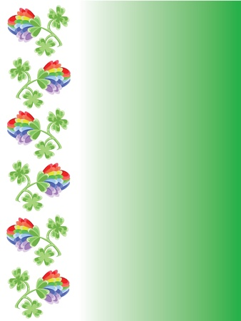 Background with clovers photo