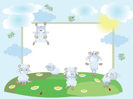 Sheep,frame Stock Vector - 8958987