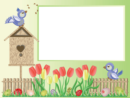 sparrows: Easter frame