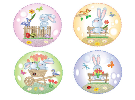 bugs bunny: Easter icons with bunnies