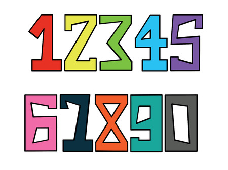 Numbers set Stock Vector - 9101654