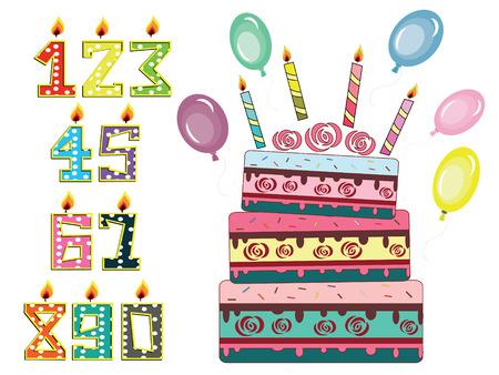 Birthday set Vector