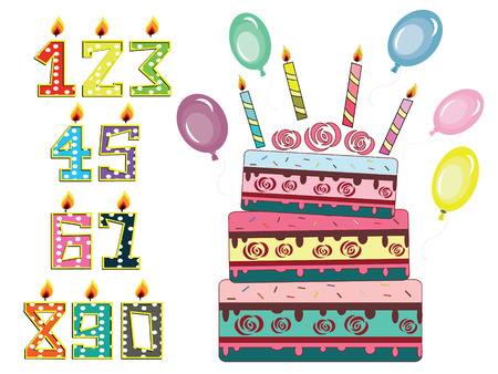 numeral: Birthday set