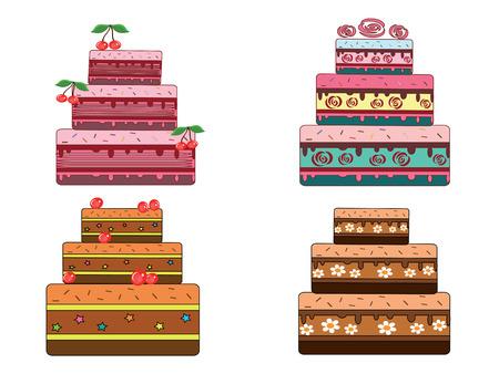 trozo de pastel: Conjunto de pies Vectores