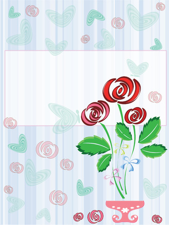 Frame with rosers Vector