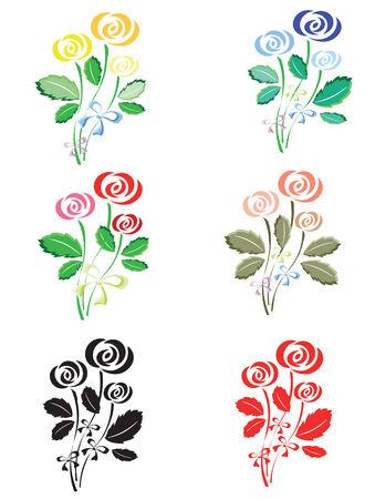Roses set Çizim