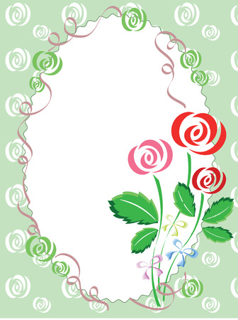 Frame with rosers Stock Vector - 9104971