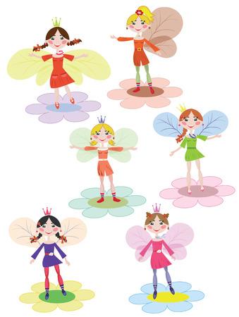 fee zauberstab: Feen-set Illustration