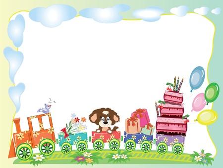 birthday train: Birthday frame
