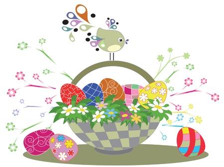 Easter basket Stock Vector - 9171307