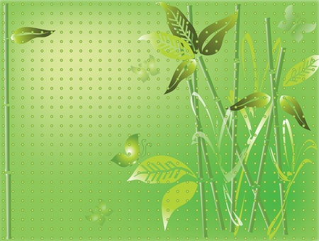 Background with bamboo Stock Vector - 9208354