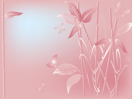Background with bamboo Stock Vector - 9208352
