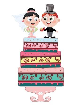Pastel de boda Ilustración de vector