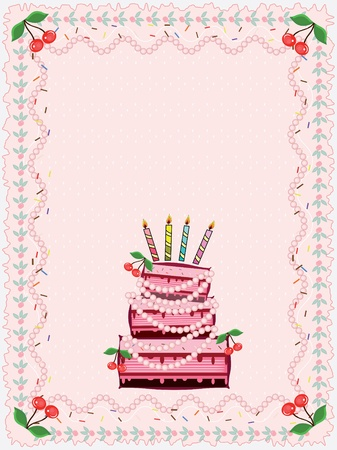 Birthday card Stock Vector - 9285803