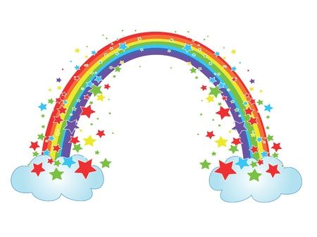 Decor with rainbow Illustration