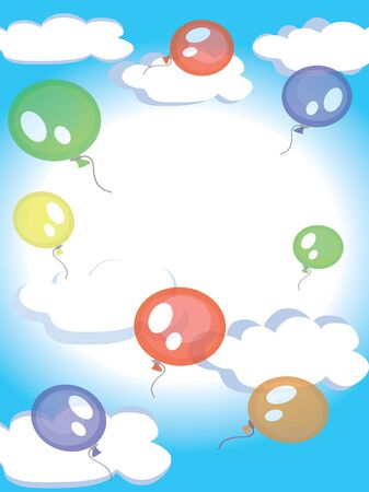 Balloons in the sky Stock Vector - 9335371