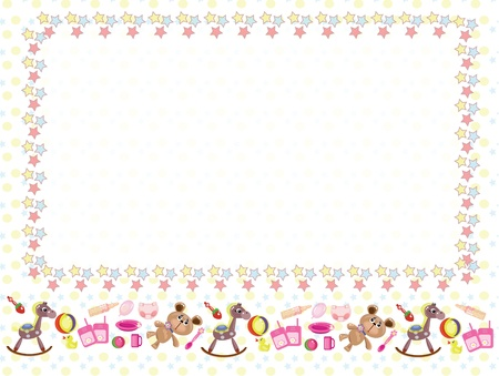 cute border: Children frame Illustration