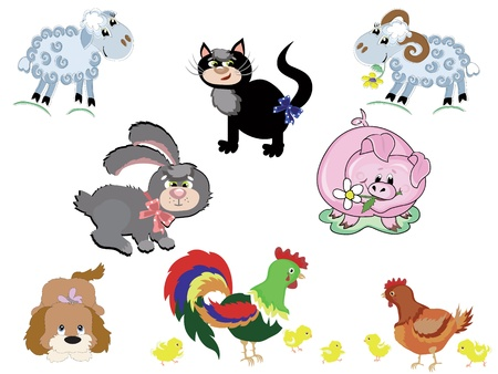 cartoon sheep: Farm animals,set