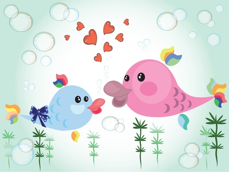 Mothers day ,fish,vector  Vector
