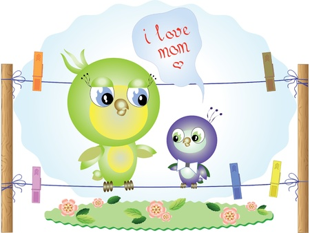 cherry wood: Mothers day  Illustration