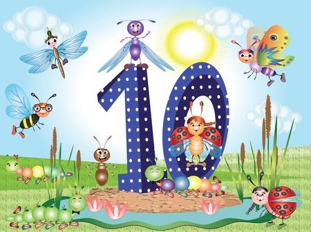 Number ten Иллюстрация
