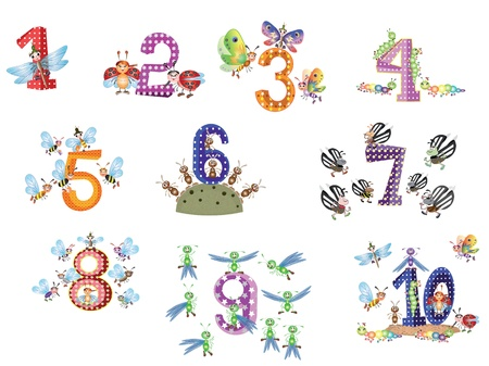 Numbers set Stock Vector - 9529898