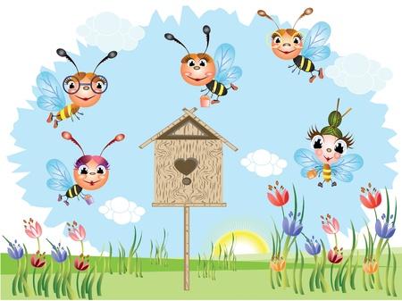 Bees Stock Vector - 9529896