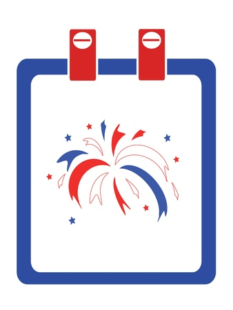 Independence day,calendar Vector
