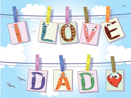 Dad day Vector
