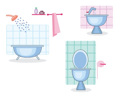 Bathroom and toilet Stock Vector - 9578423