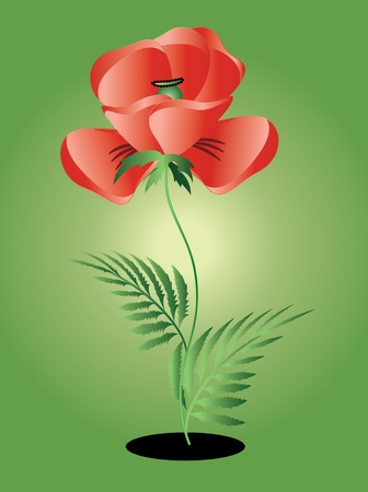 Memory day,symbol,red poppy Vector