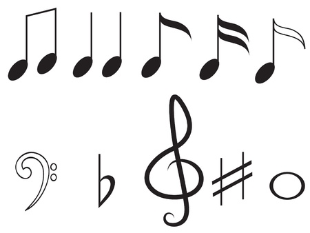 Music notes,set Illustration