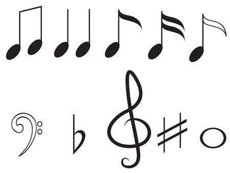 nota musical: Notas de la m�sica, establecer