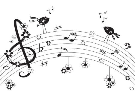 notes de musique: Notes de musique Illustration