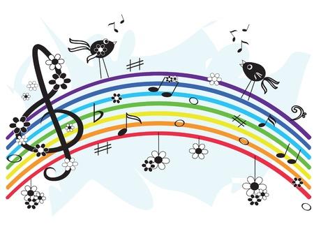 Music rainbow Stock Vector - 9650686