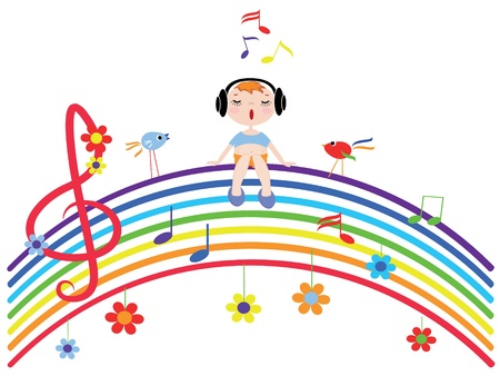 Music rainbow Vettoriali