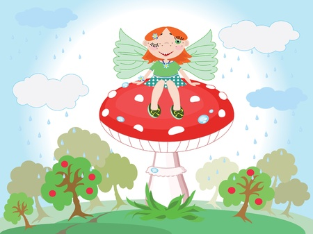 Forest fairy Stock Vector - 9688591