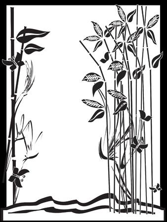 Bamboo,frame Stock Vector - 9688596