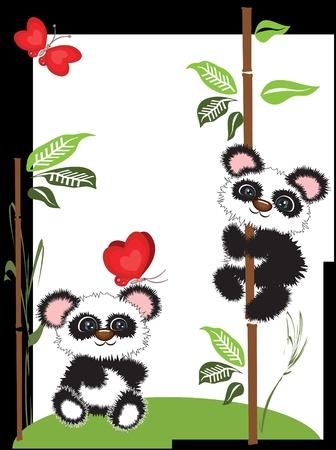 Pandas Stock Vector - 9688600
