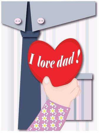 Dad day Vector