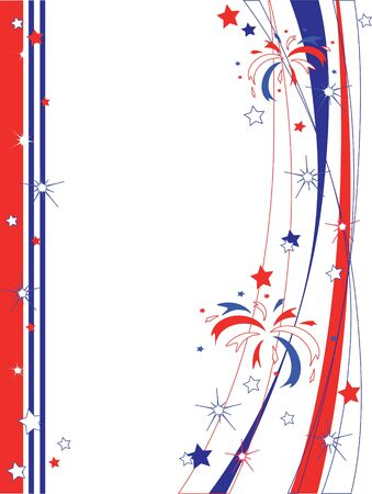 Independence Day frame Vector