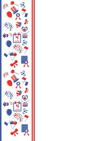 republican party: Independence Day border Illustration