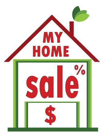 Home sale Stock Vector - 9800311
