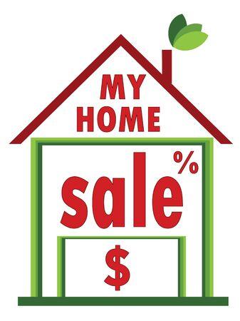 Home sale Stock Vector - 9800311