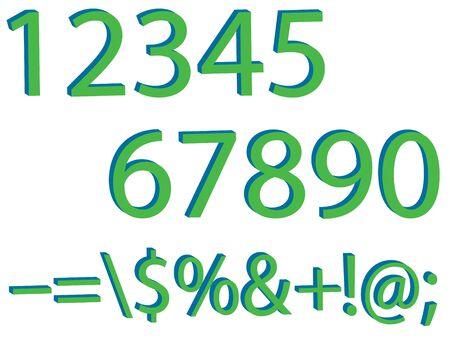 Numbers set,3d Vector