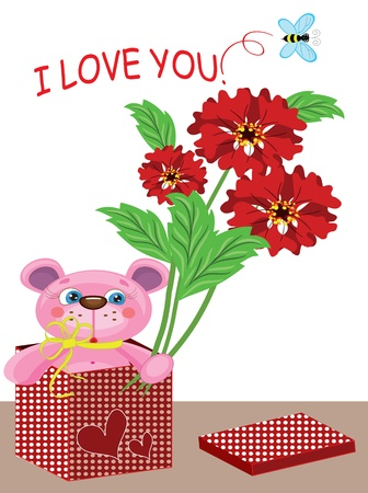 Valentines day, card Vector